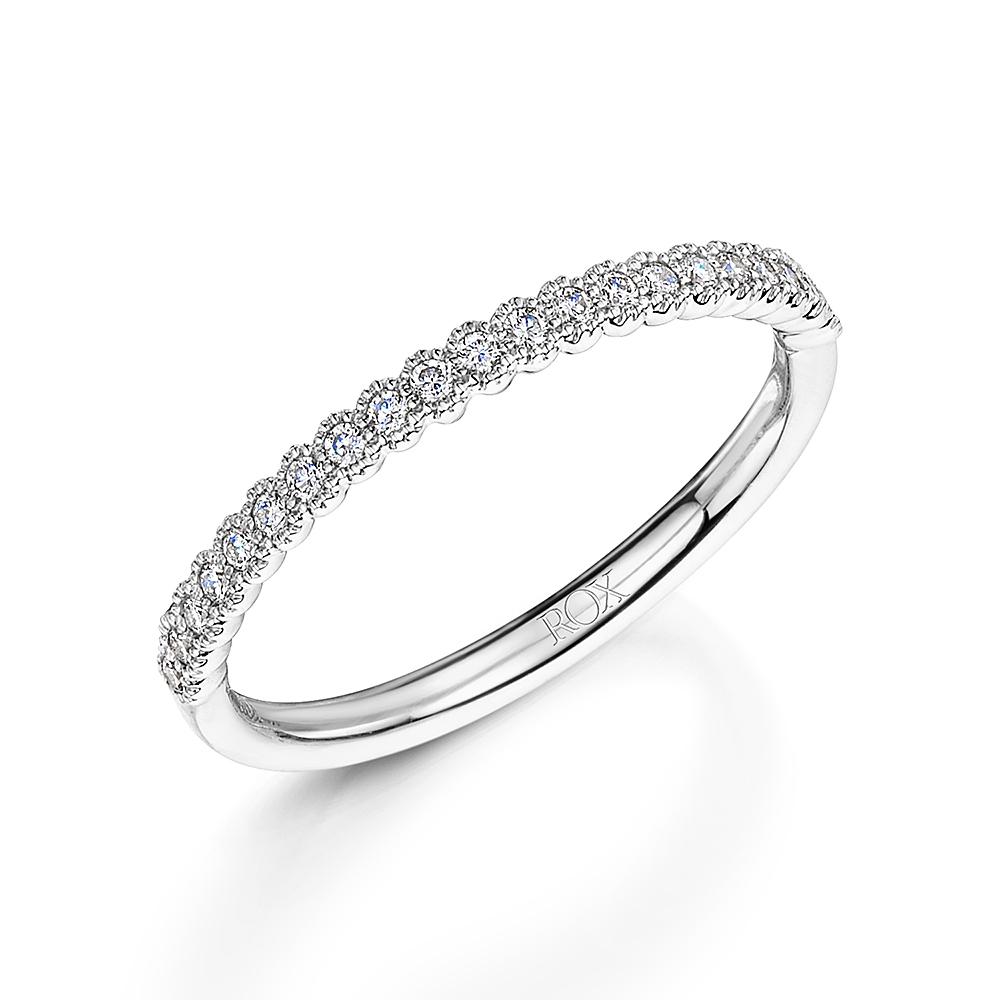 ROX Diamond Hexagon Stacking Ring 0.14cts