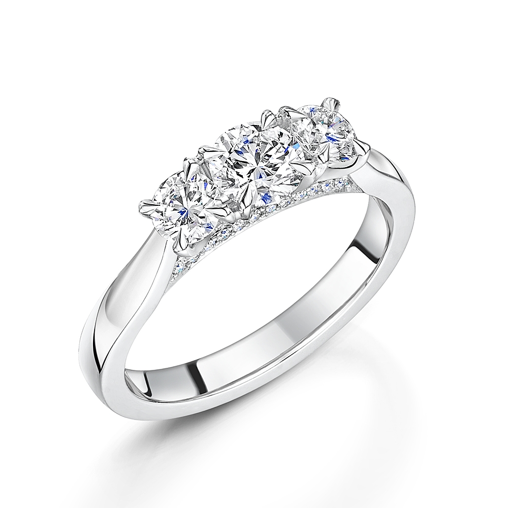 Adore Brilliant Trilogy Diamond Ring 1.09cts