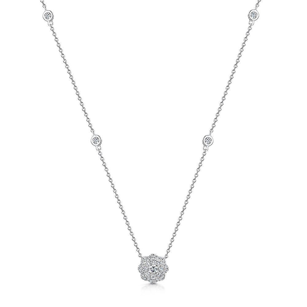 ROX Diamond Flower Pendant 0.59cts