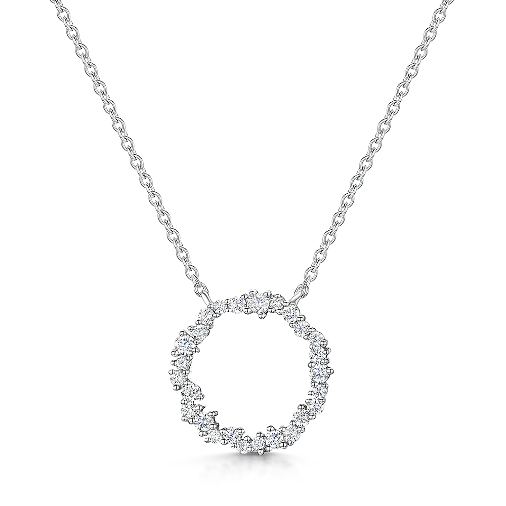 ROX Diamond Circle Necklace 0.52cts