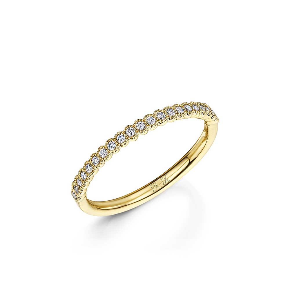 ROX Diamond Hexagon Stacking Ring 0.13cts