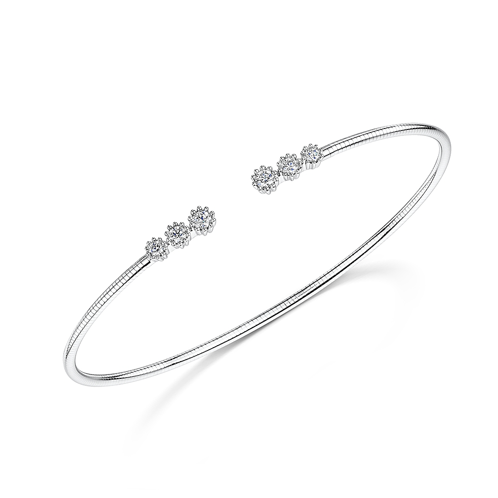 ROX Diamond Torque Bangle 0.32cts