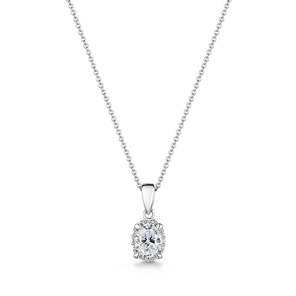 ROX Diamond Halo Necklace 0.30cts