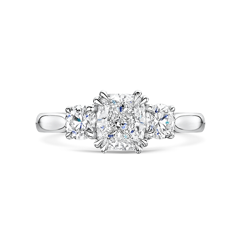 Cushion & Brilliant Cut Diamond Ring 1.50cts