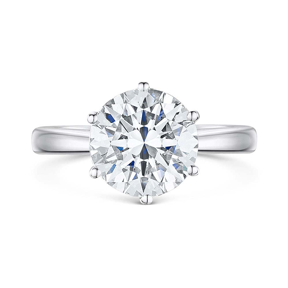 ROX Brilliant Cut Diamond Solitaire Ring 4.02cts