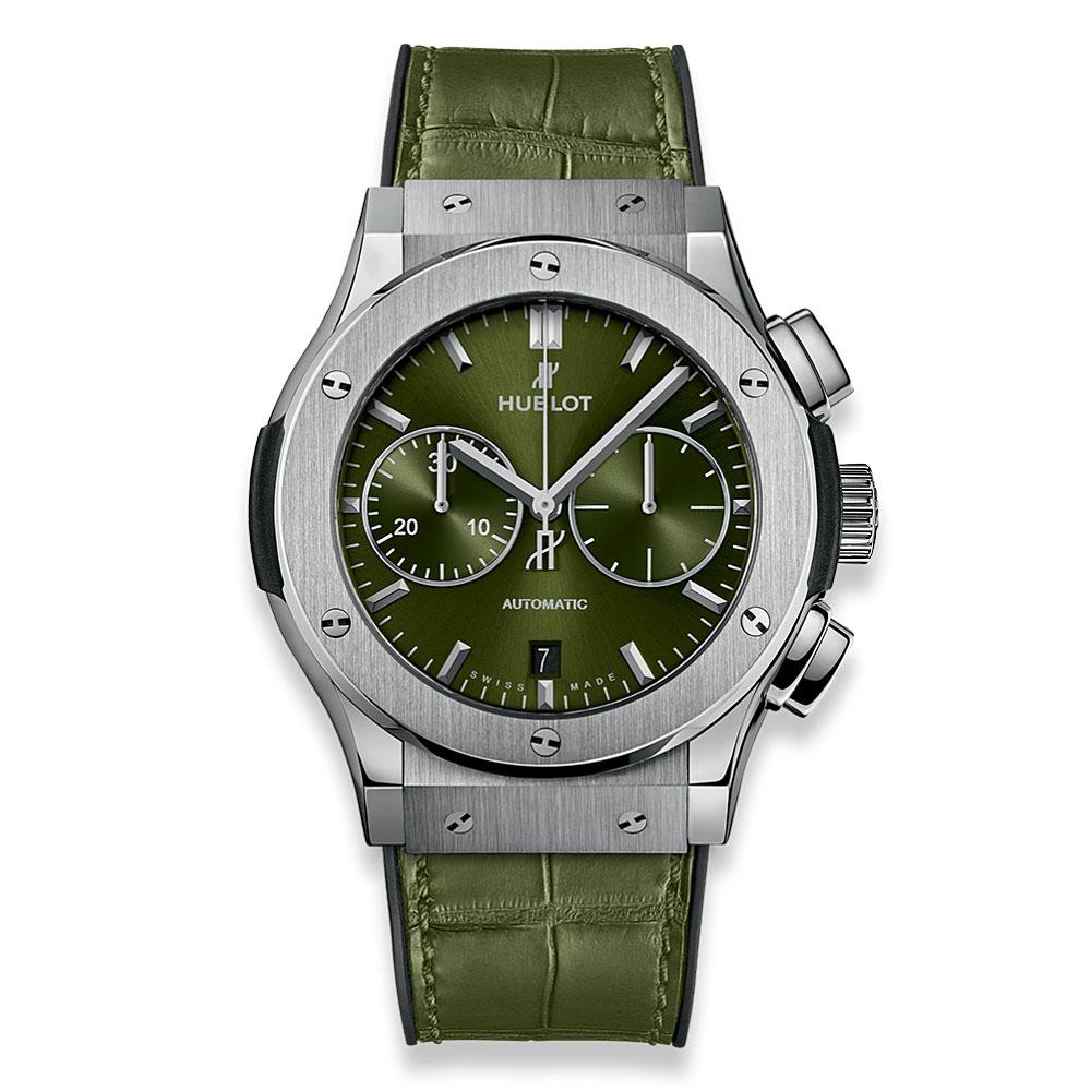 Hublot Classic Fusion Green Titanium Watch 521.NX.8970.LR