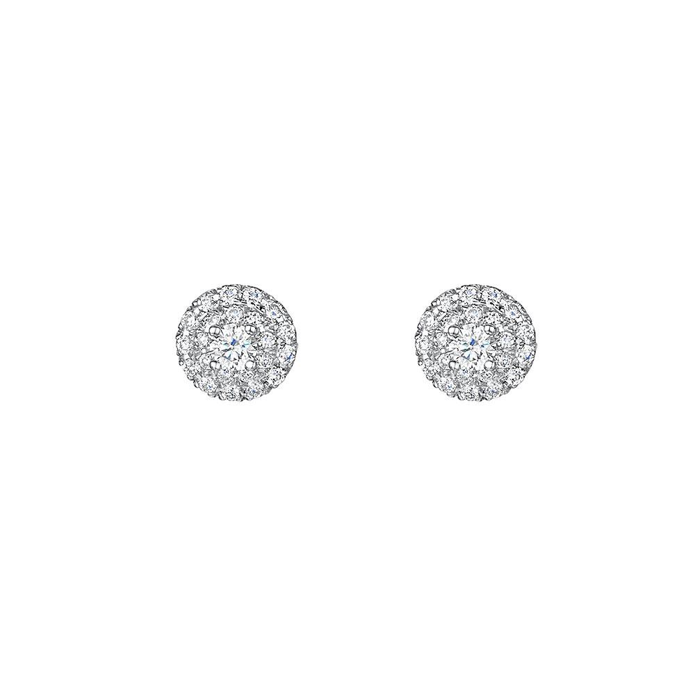 ROX Diamond Halo Earrings 0.40cts