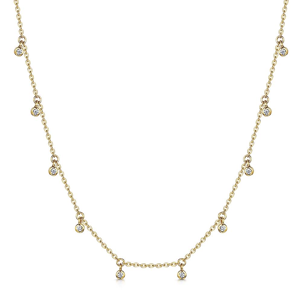 ROX Celestial Gold Vermeil Droplet Pendant