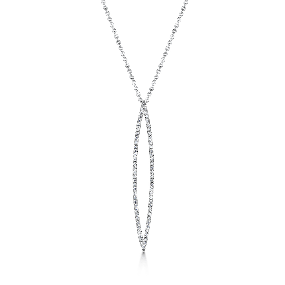 ROX Diamond Open Drop Pendant 0.31cts