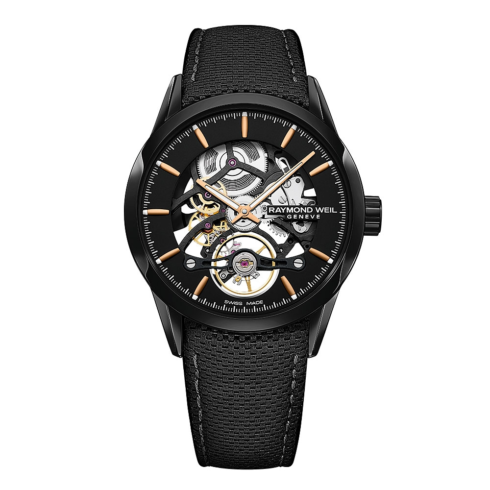 Raymond Weil Freelancer Black Skeleton Watch 2785-BC5-20001
