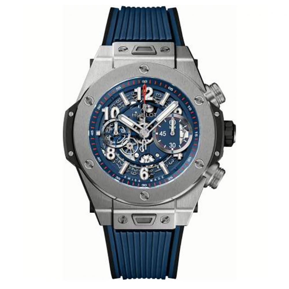 Hublot Big Bang Unico Blue Dial Watch 45mm 411.NX.5179.RX