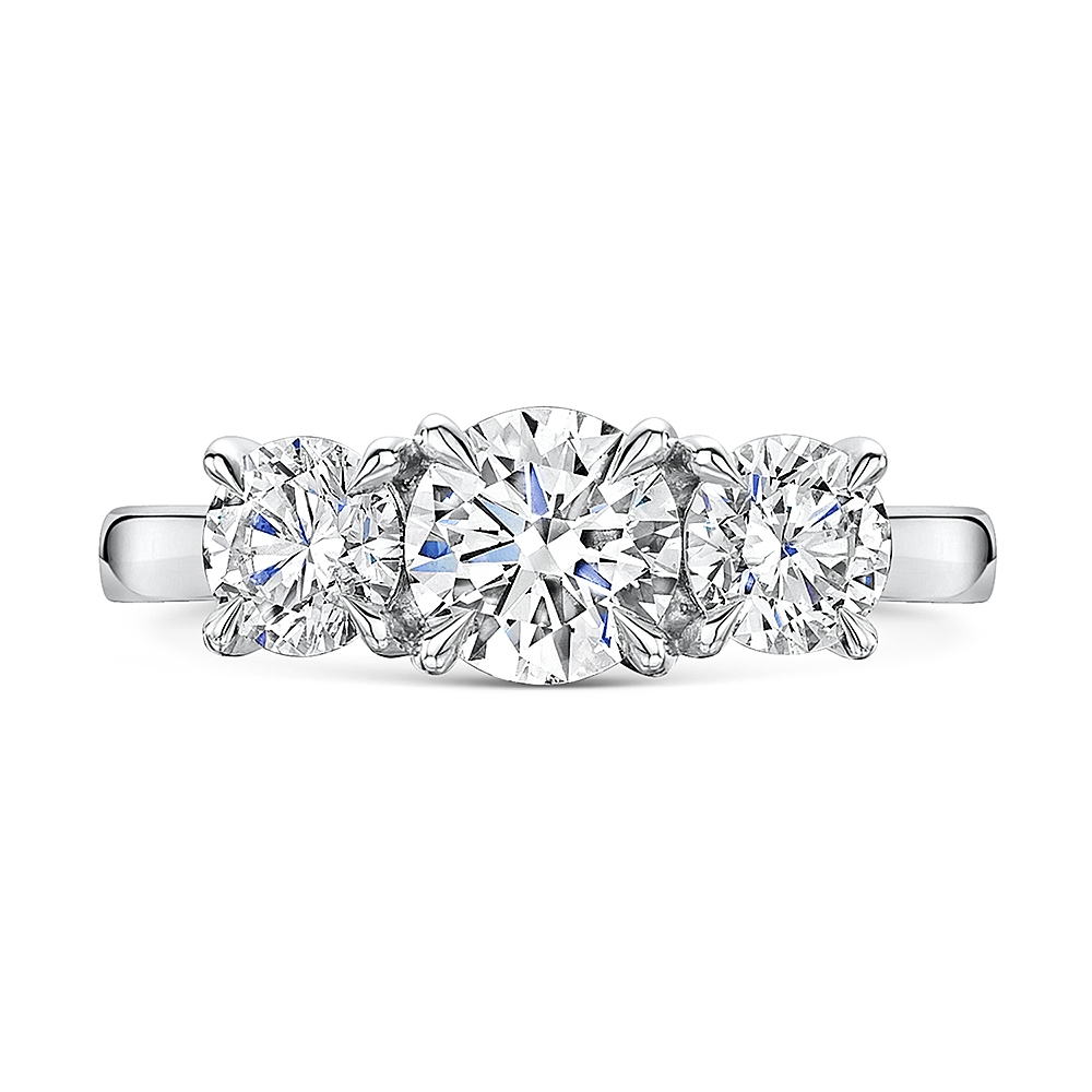 ROX Adore Brilliant Cut Trilogy Diamond Ring 2.16cts