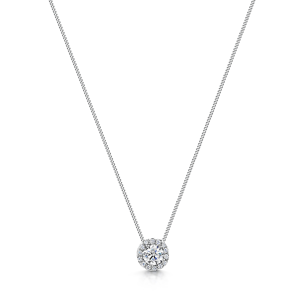 ROX Halo Diamond Necklace 0.37cts