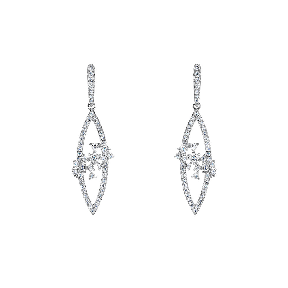 ROX Diamond Drop Earrings 0.76cts