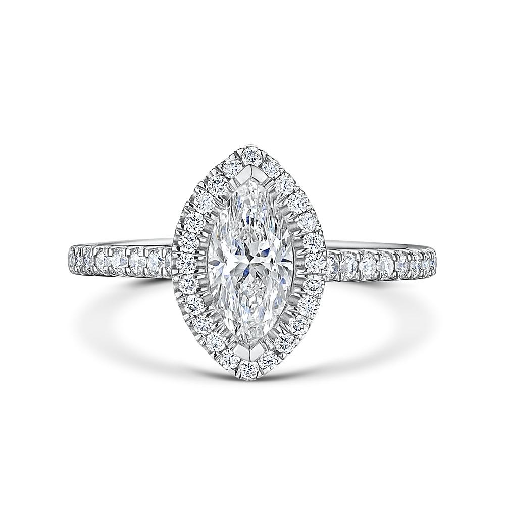 ROX Marquise Cut Diamond Halo Ring 1.11cts