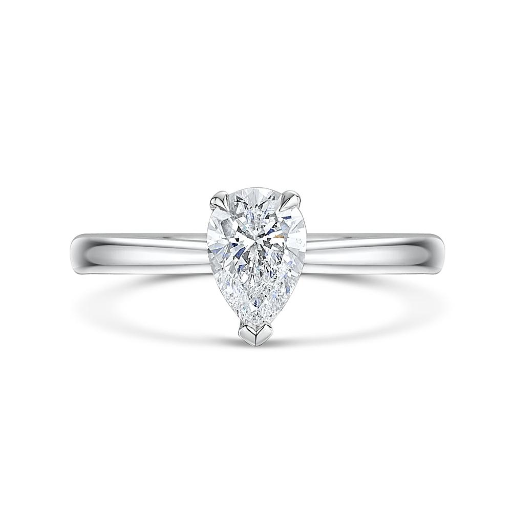 ROX Honour Pear Cut Diamond Ring 0.72cts