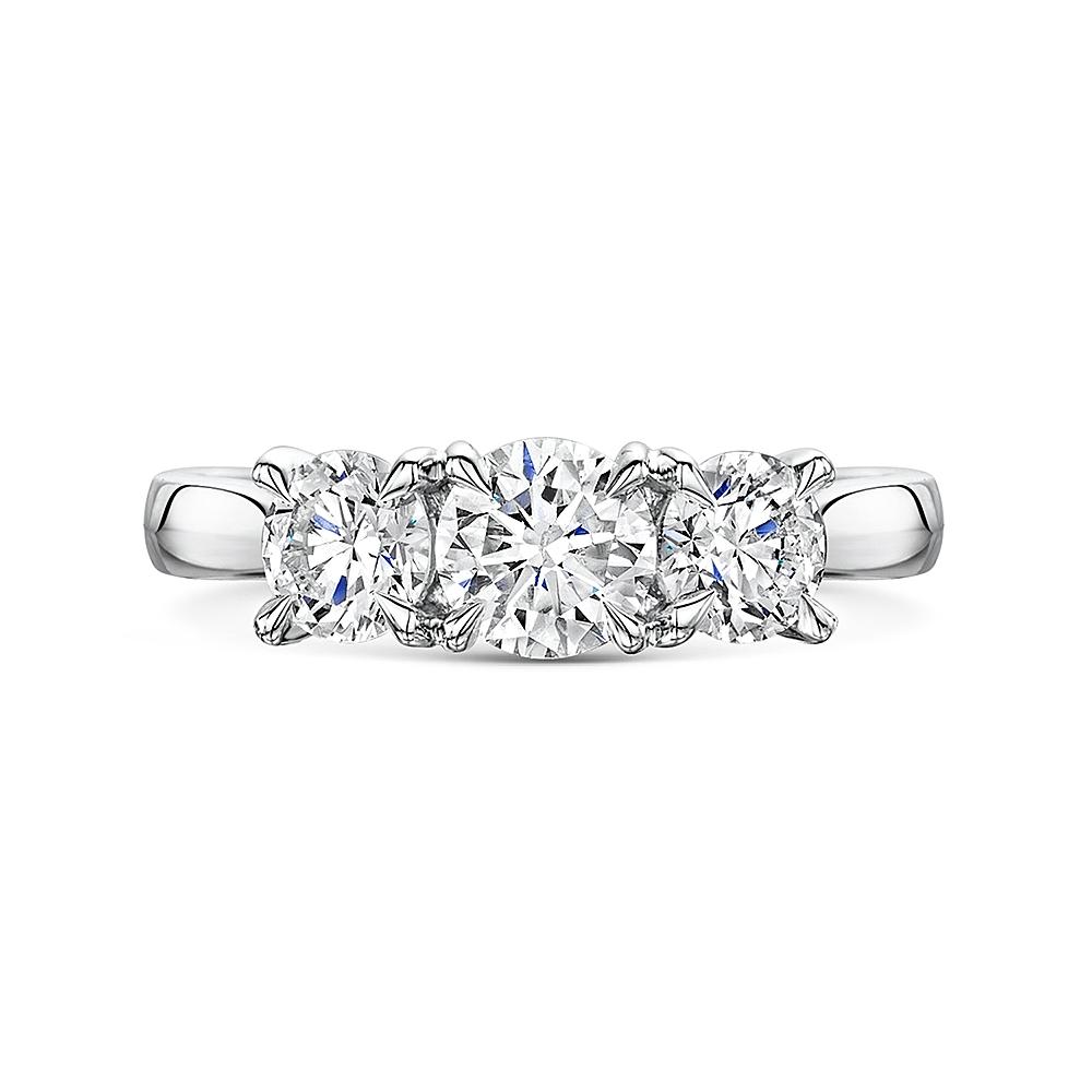 ROX Adore Brilliant Cut Trilogy Diamond Ring 1.64cts