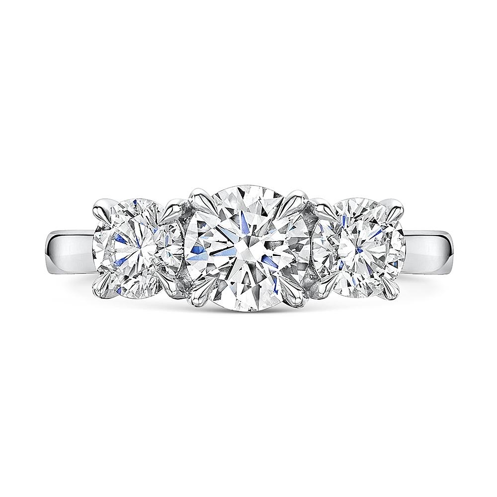 ROX Adore Brilliant Cut Trilogy Diamond Ring 2.16cts