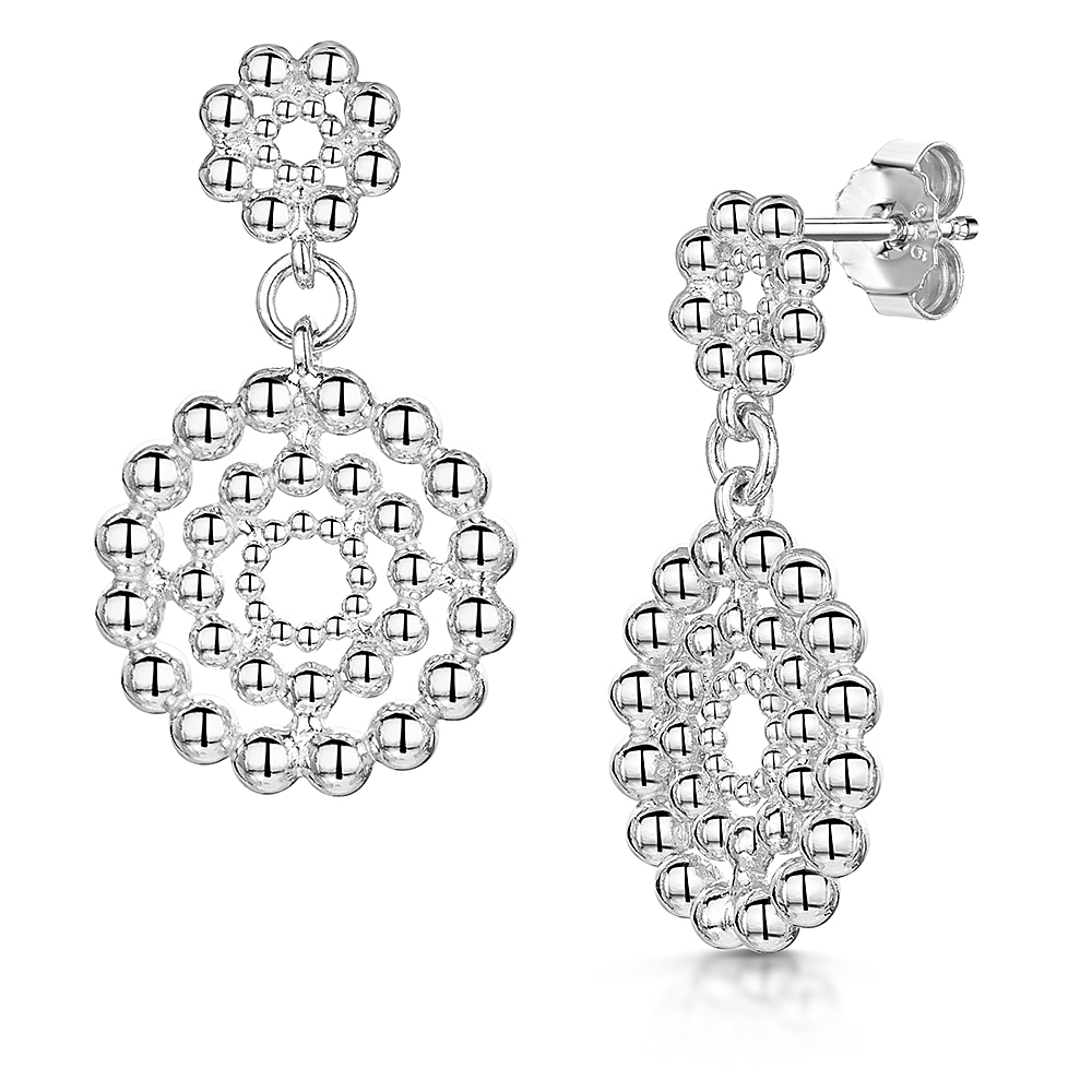 ROX Orbit Beaded Double Disc Earrings