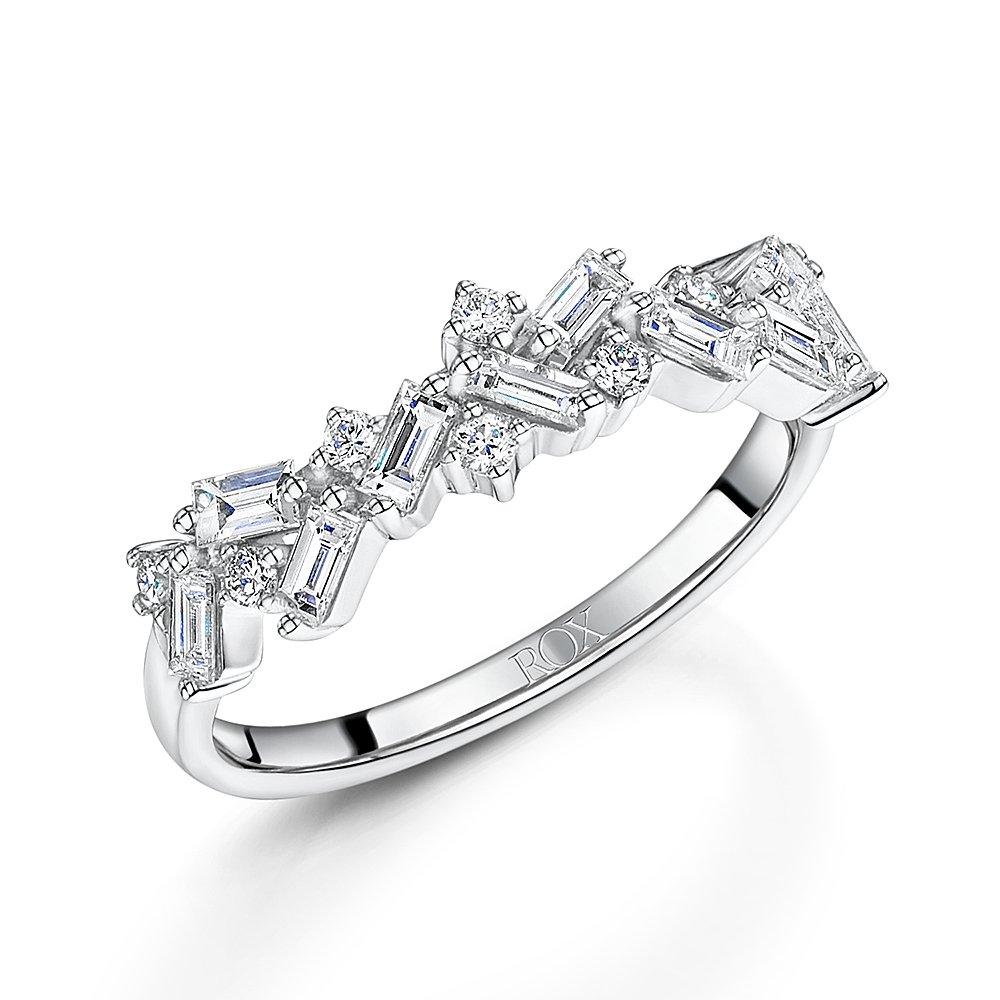 ROX Diamond Baguette Cut Dress Ring 0.64cts