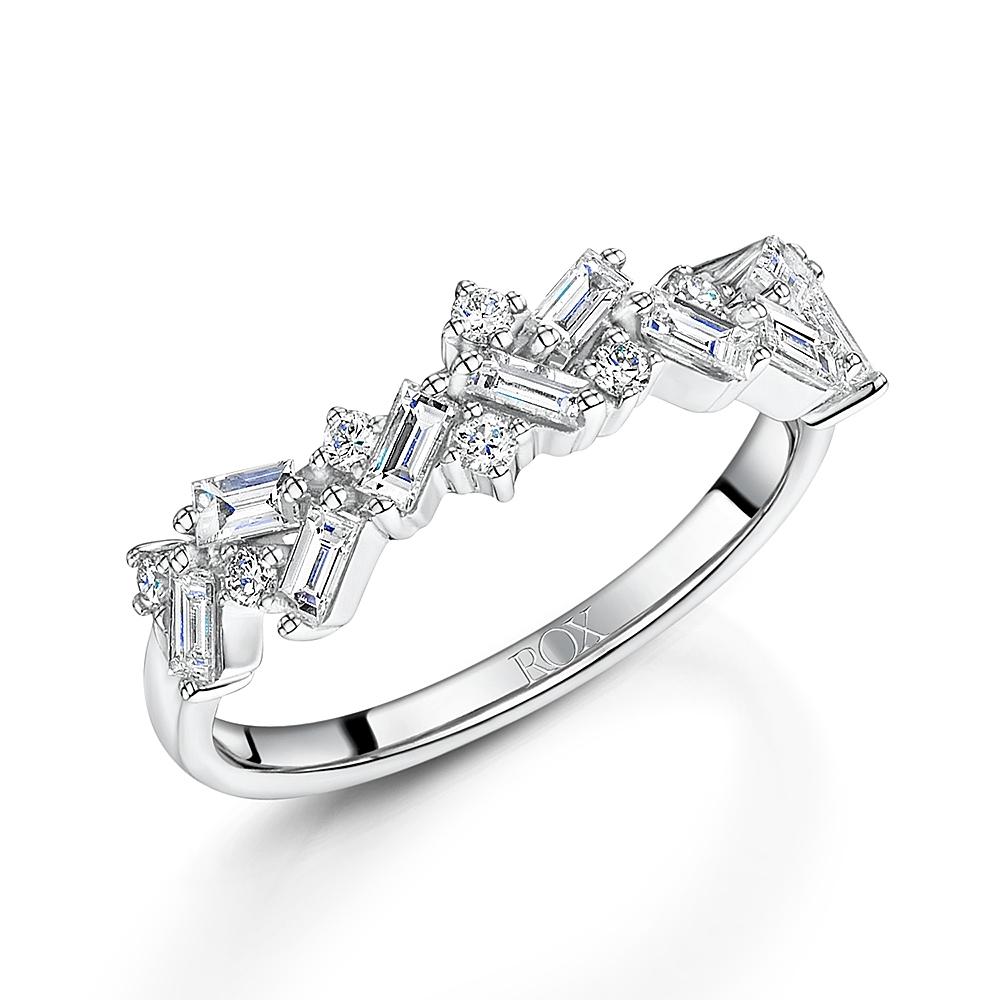ROX Diamond Baguette Cut Dress Ring 0.64cts