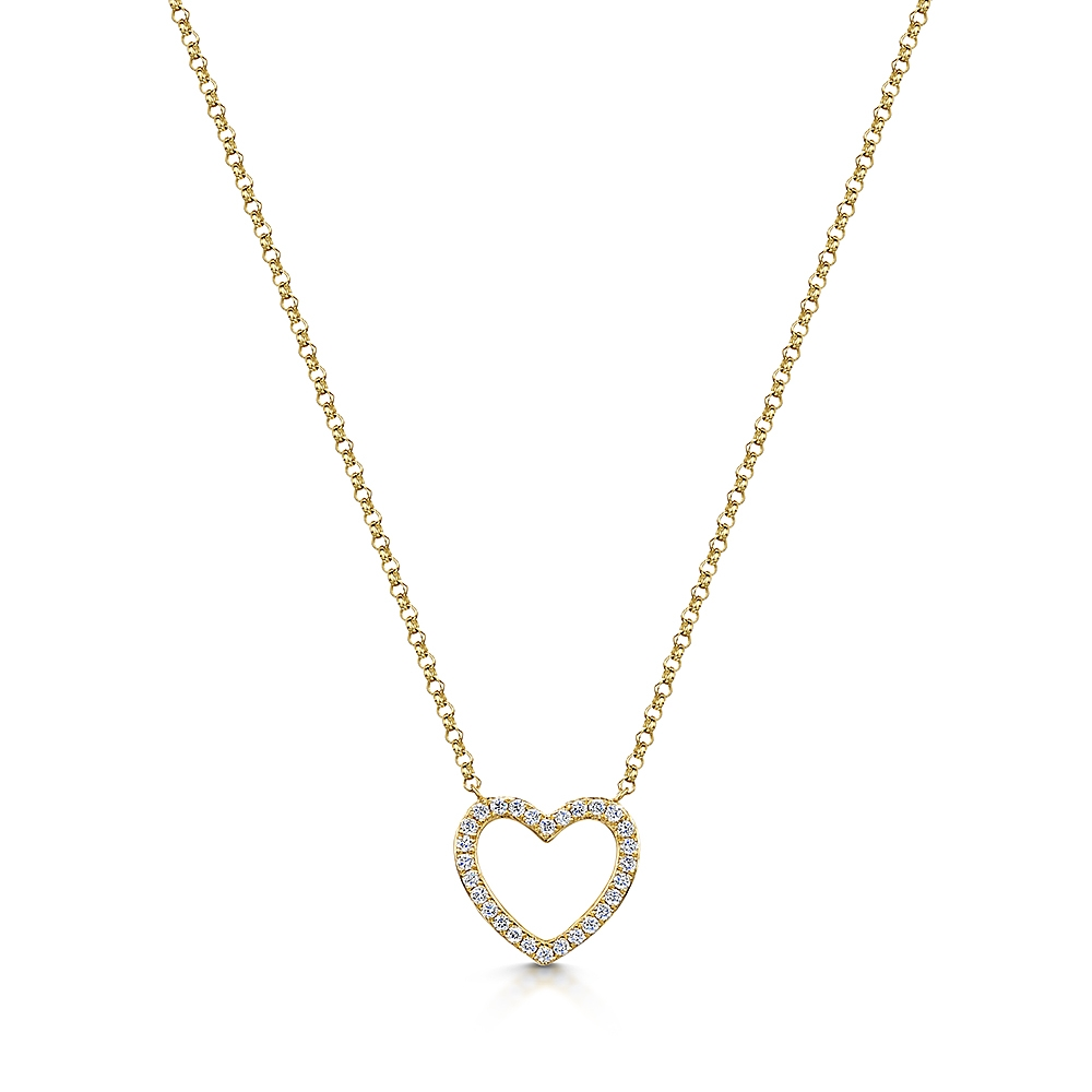 ROX Diamond Heart Necklace 0.10cts