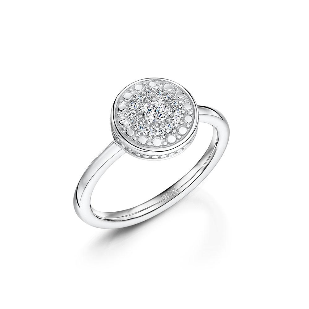 ROX Boho Silver Disc Ring
