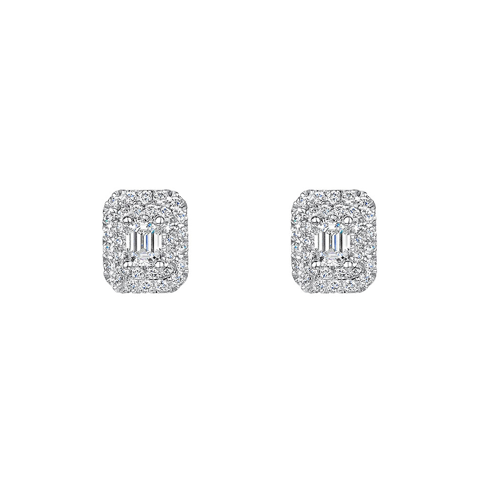ROX Vintage Halo Diamond Earrings 0.75ct