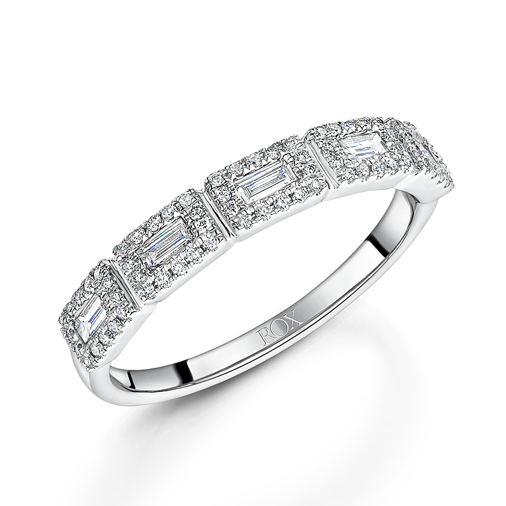ROX Diamond Baguette Cut Dress Ring 0.40cts