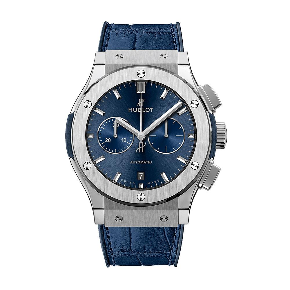 Hublot Classic Fusion Blue Titanium Watch 42mm 541.NX.7170.LR