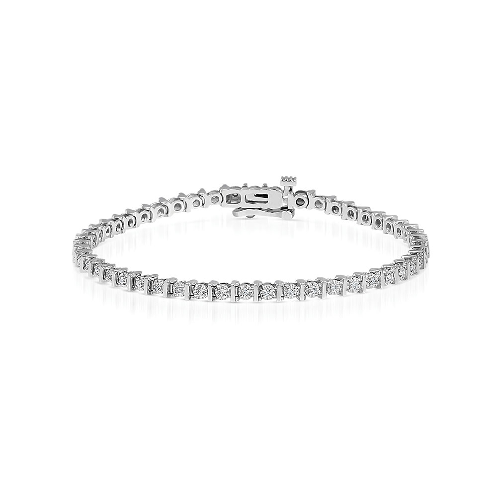 ROX Classic Tension Set Diamond Line Bracelet 0.50cts