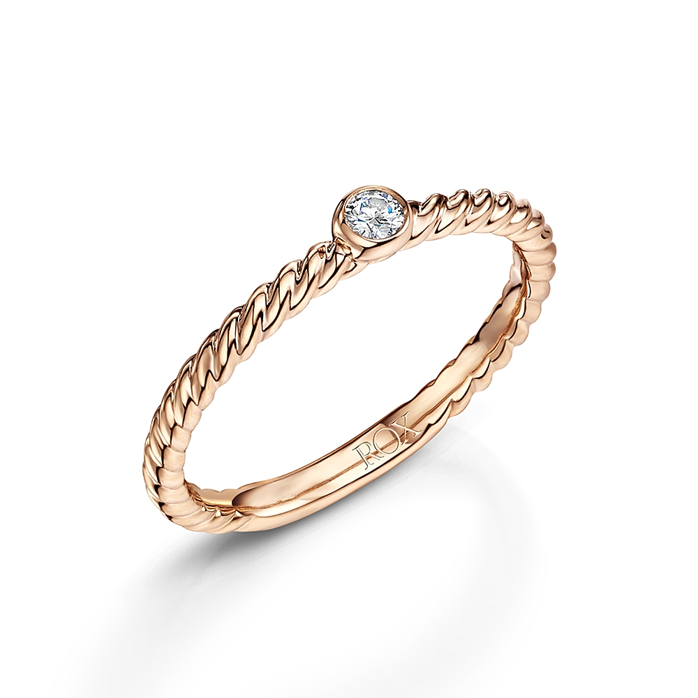 ROX Diamond Stacking Ring 0.05cts