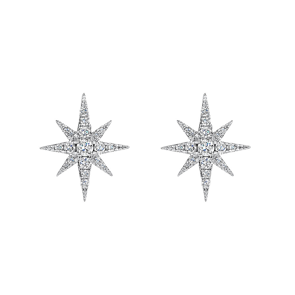 ROX Diamond Star Earrings 0.35cts