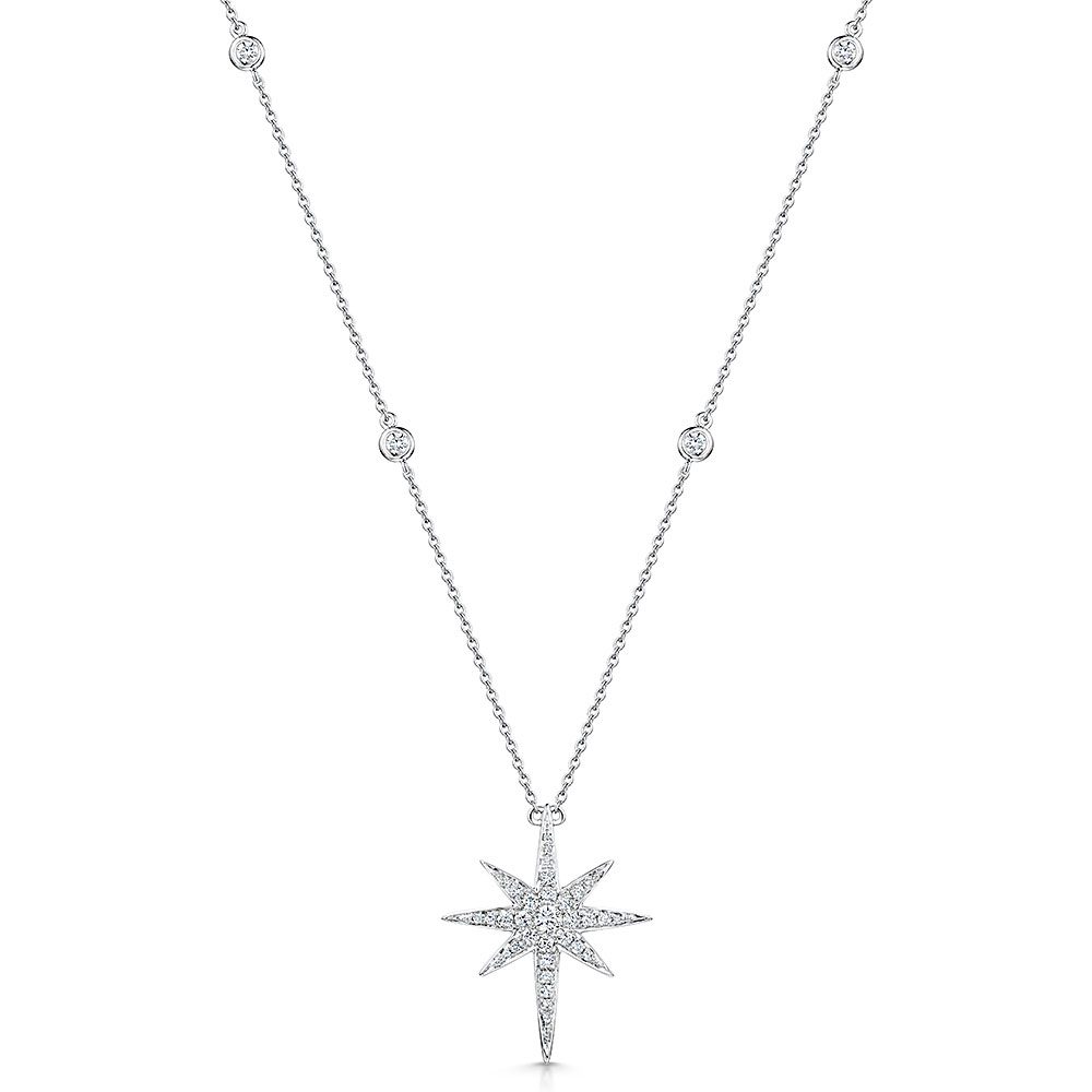 ROX Diamond Star Pendant & Chain 0.52cts