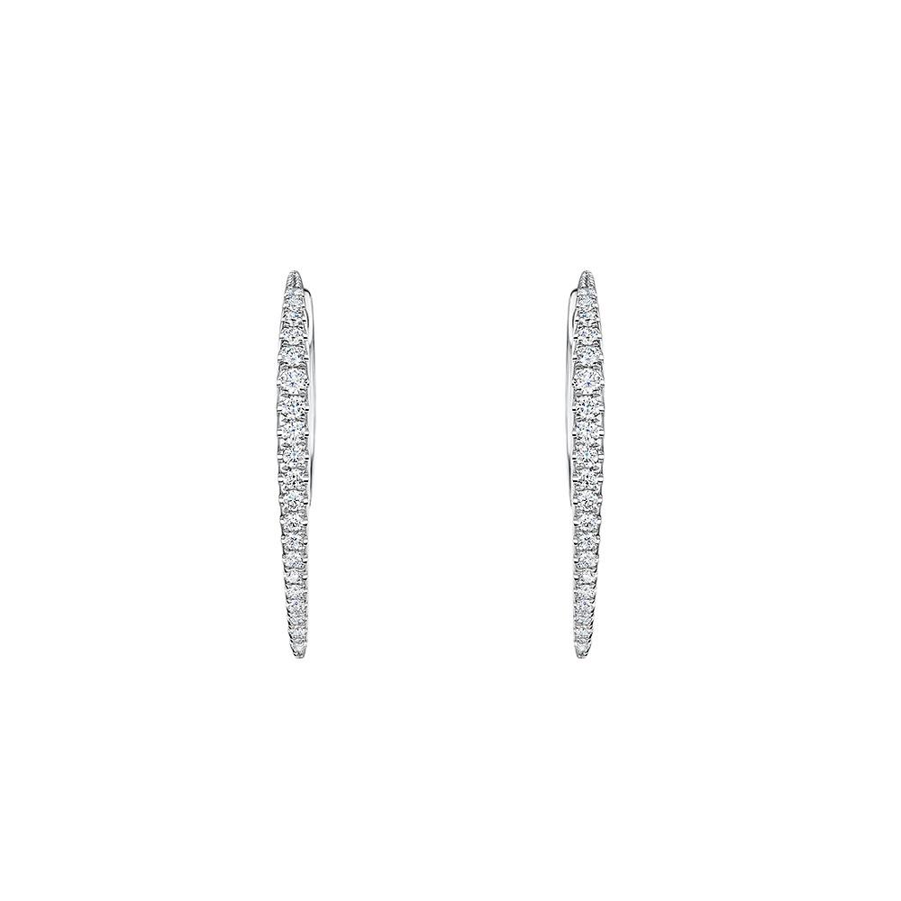 ROX Diamond Hoop Earrings 0.34cts