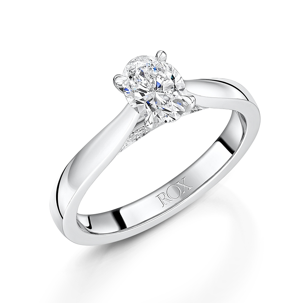 ROX Adore Oval Cut Diamond Ring 0.75cts