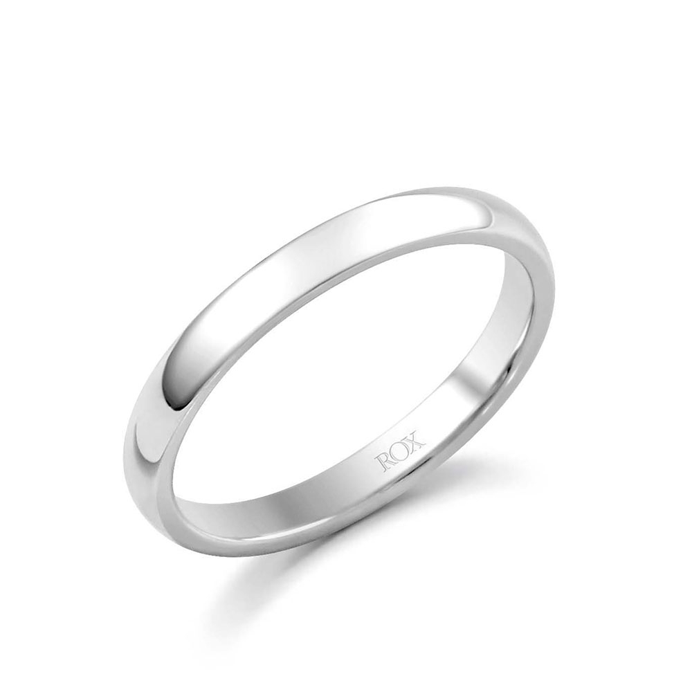 ROX Platinum Court Wedding Ring 2.5mm