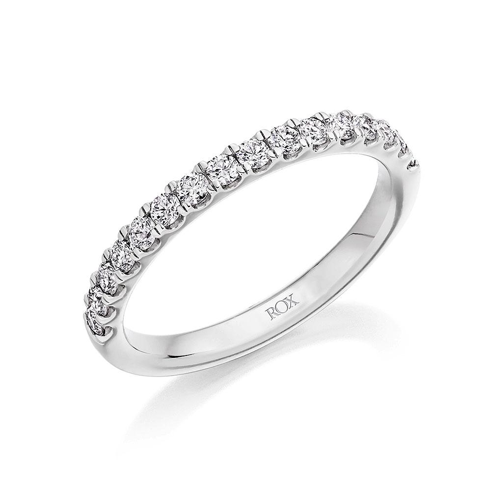 ROX Claw Diamond Eternity Ring 0.50ct