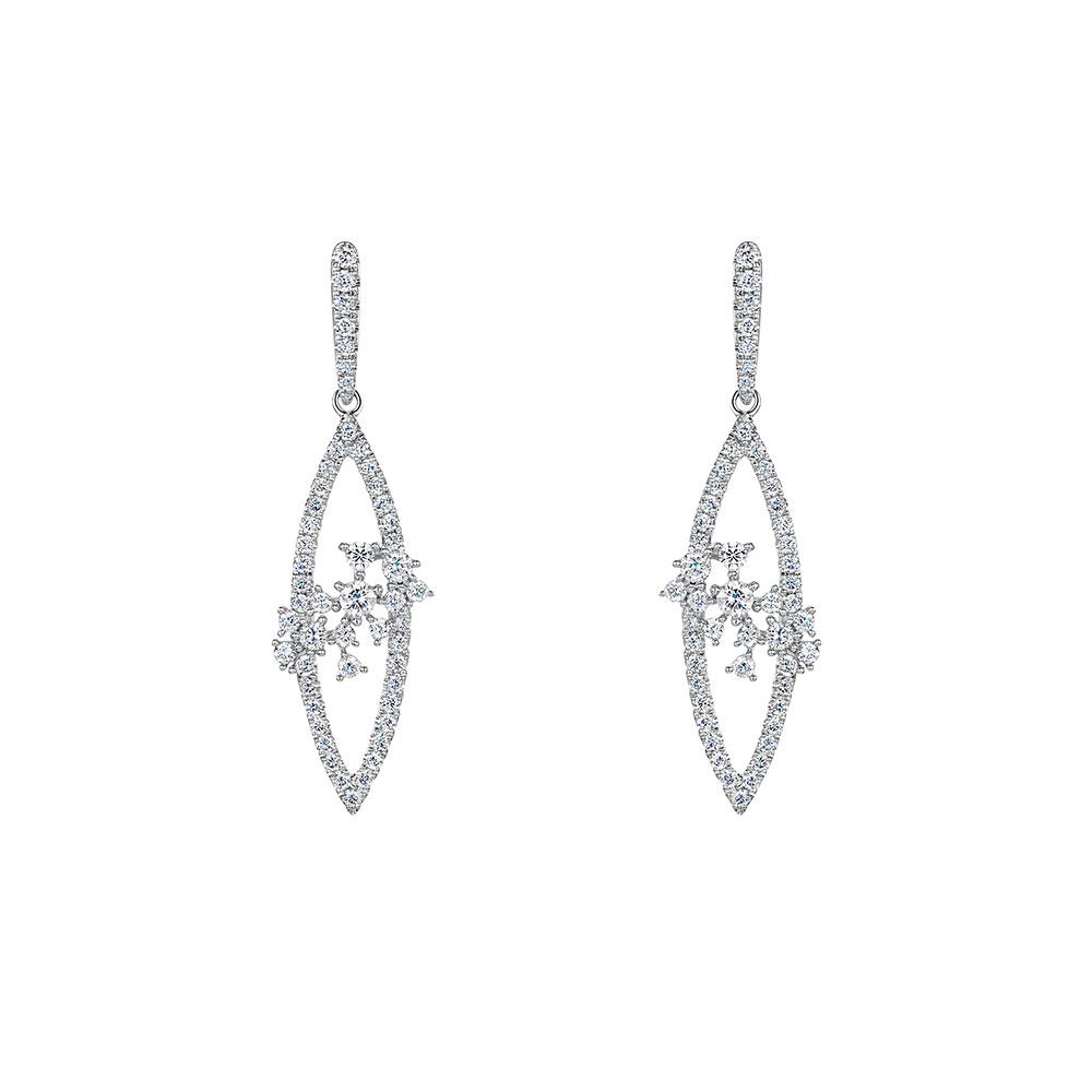 ROX Diamond Drop Earrings 0.76cts