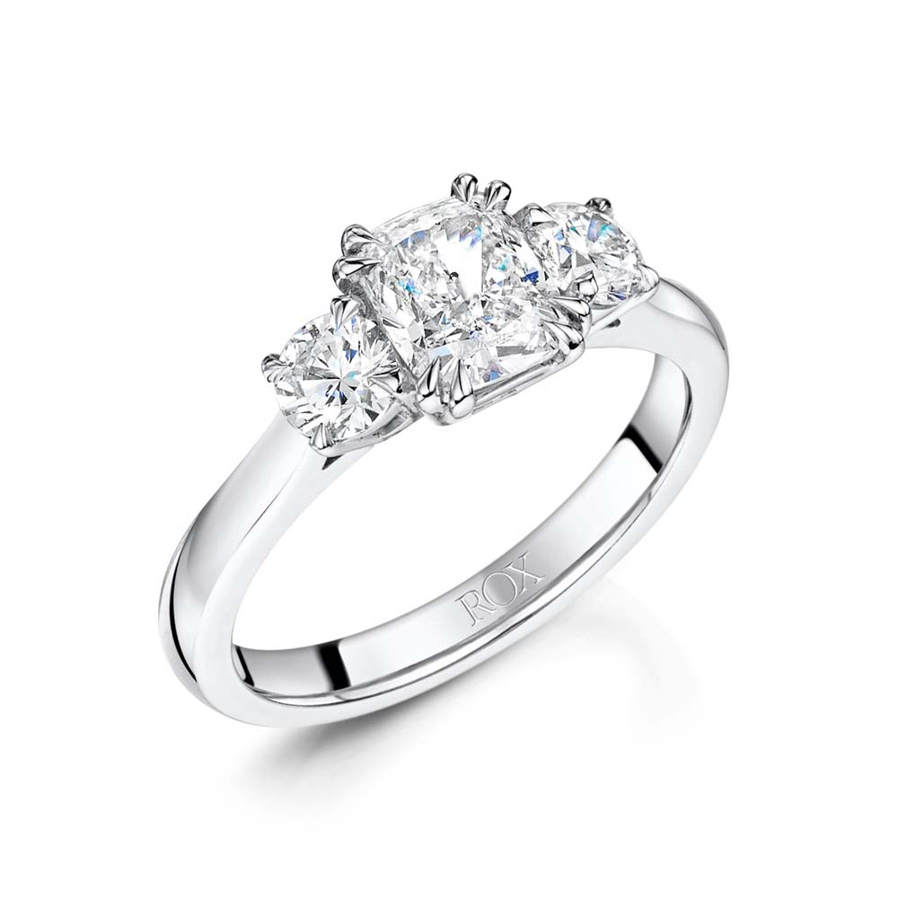 ROX Cushion & Brilliant Cut Diamond Ring 1.49cts