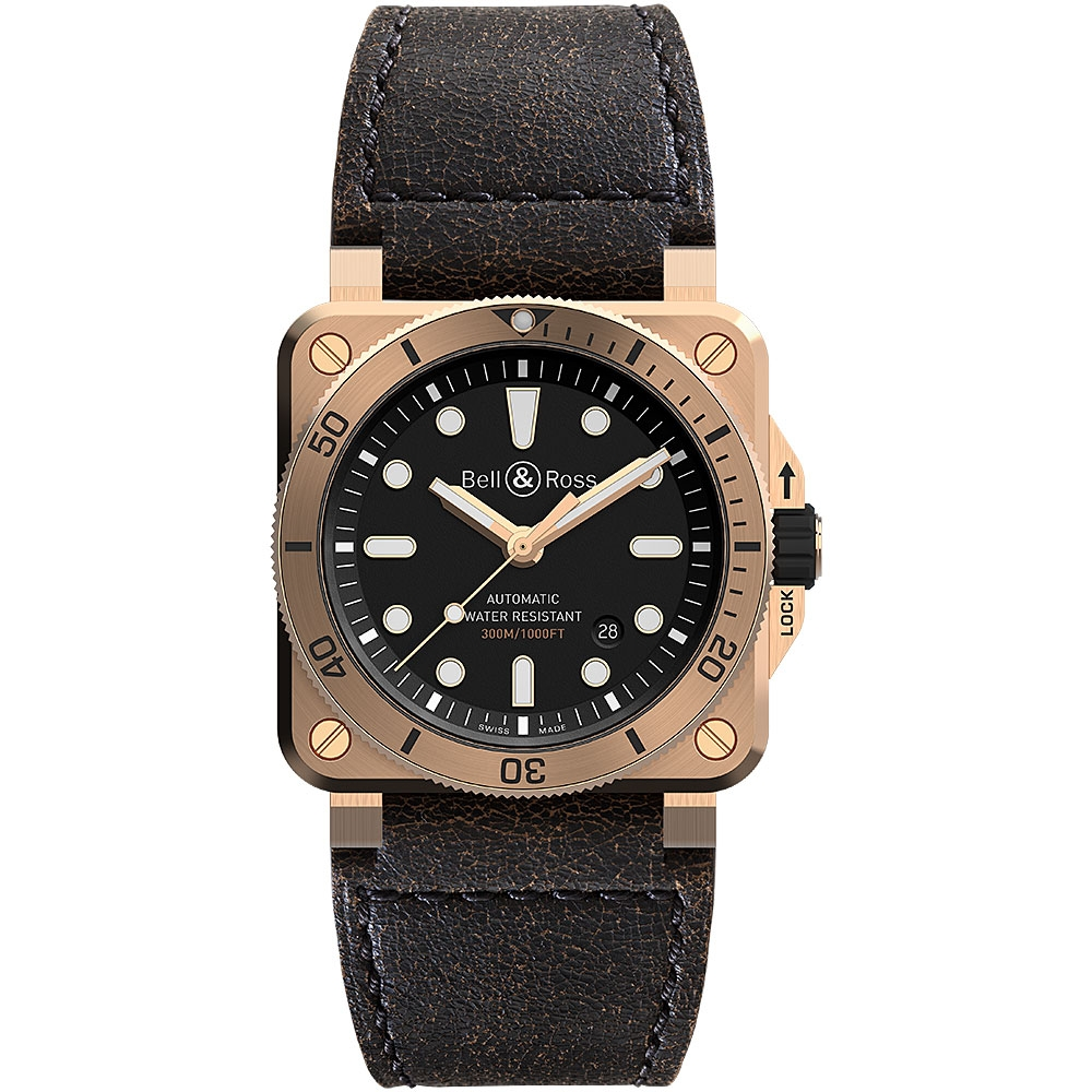 Bell & Ross Diver Watch 42mm BR0392-D-BL-BR/SCA