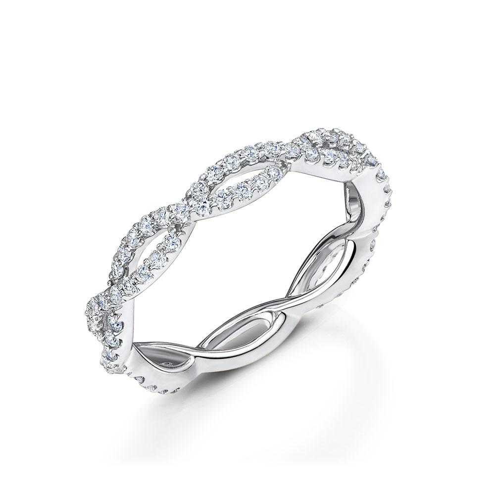 ROX Diamond Infinity Band Ring 0.54cts