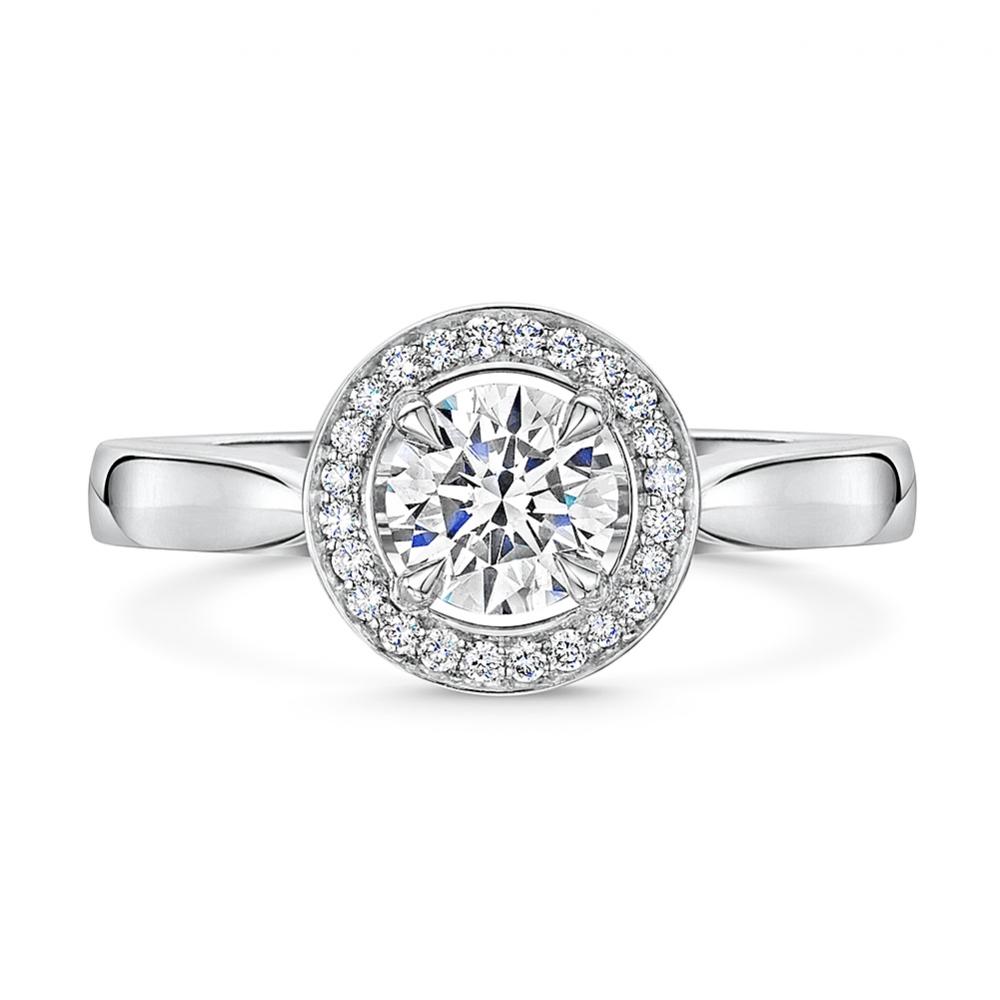 ROX Adore Halo Brilliant Diamond Ring 0.93ct