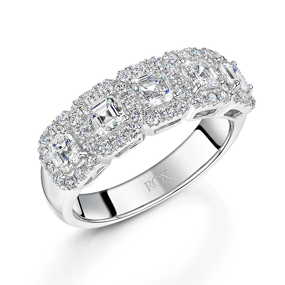 ROX Diamond Carre Cut Dress Ring 1.53cts