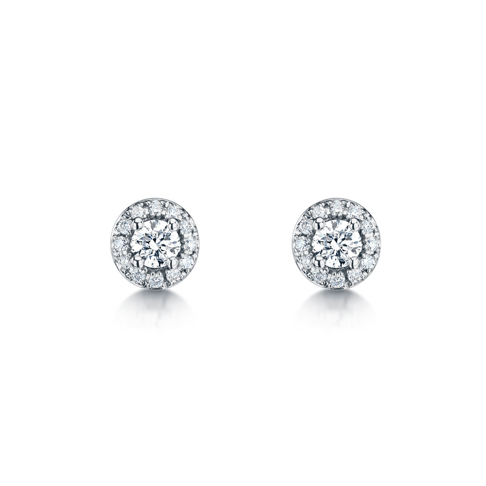 ROX Diamond Halo Earrings 0.50cts
