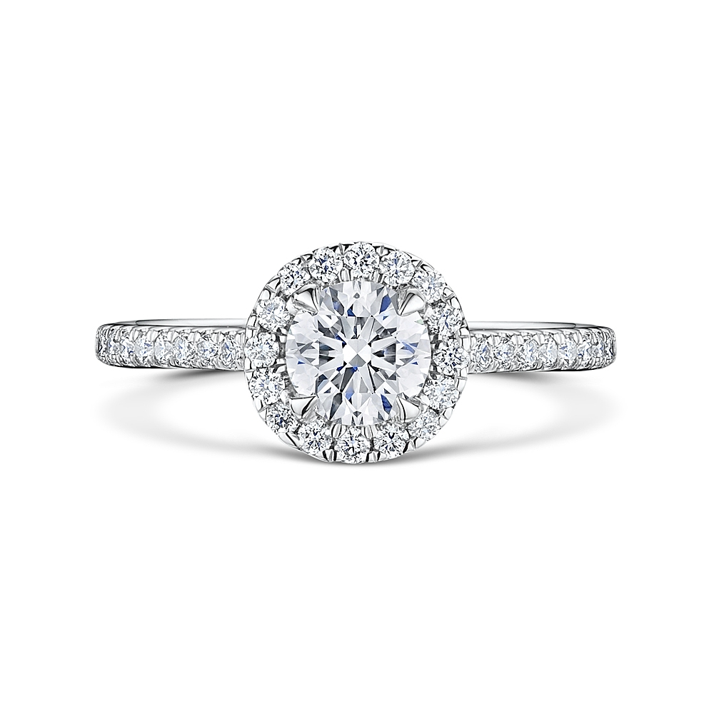 ROX Brilliant Cut Diamond Halo Ring 1.05cts