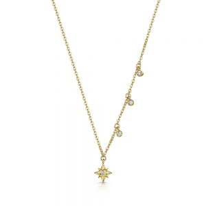 ROX Celestial Gold Vermeil Star and Drop Pendant