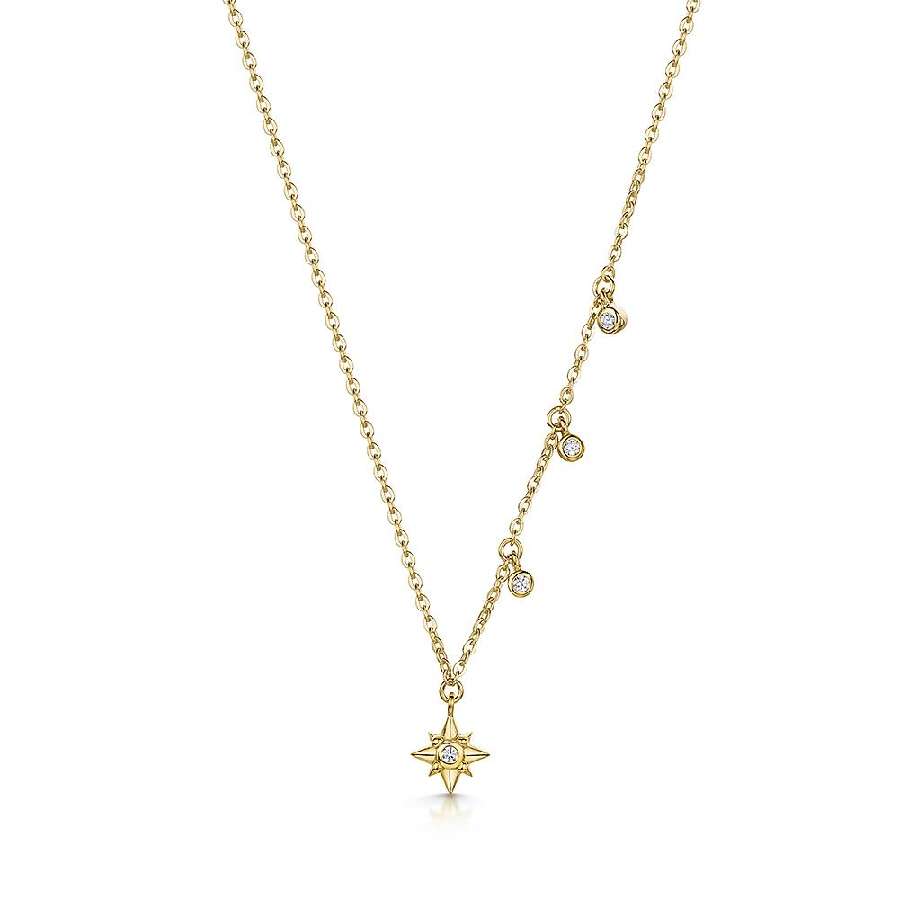 ROX Celestial Gold Vermeil Star and Drop Pendant