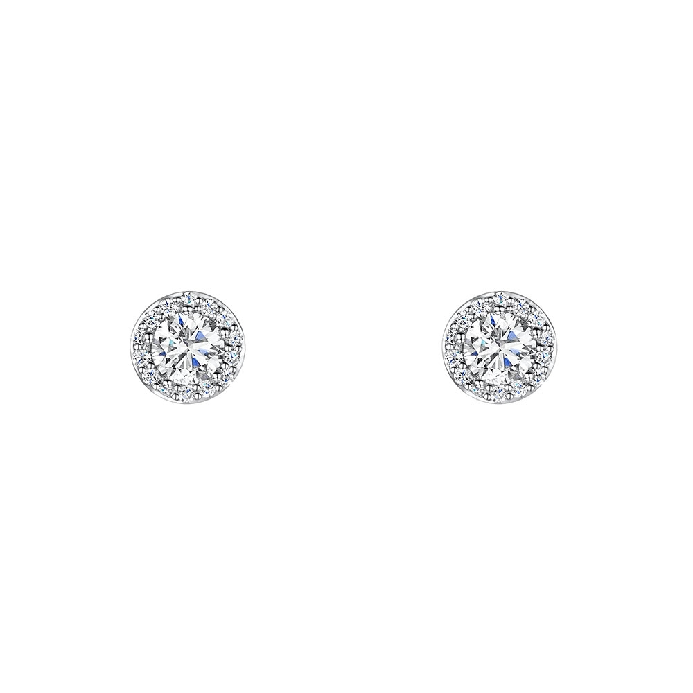 ROX Diamond Halo Earrings 0.59cts