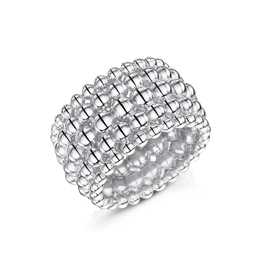 ROX Orbit Five Row Beaded Ring